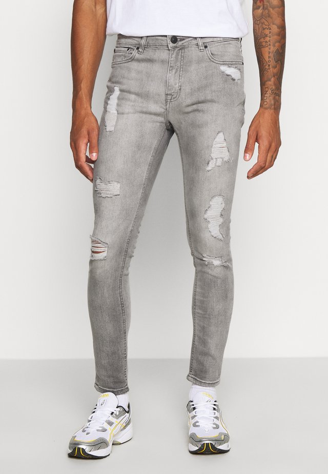 SPRAY ON RIPPED JACK - Jeans Skinny Fit - light grey