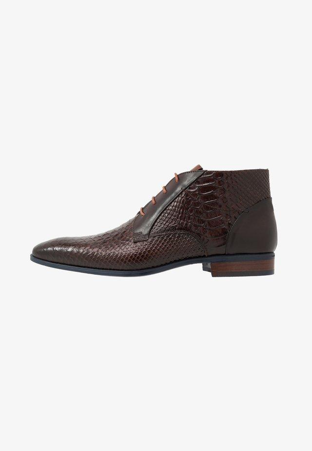 Šněrovací boty - opaco/testa di moro