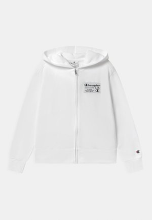 HOODED FULL ZIP UNISEX - Huvtröja med dragkedja - white