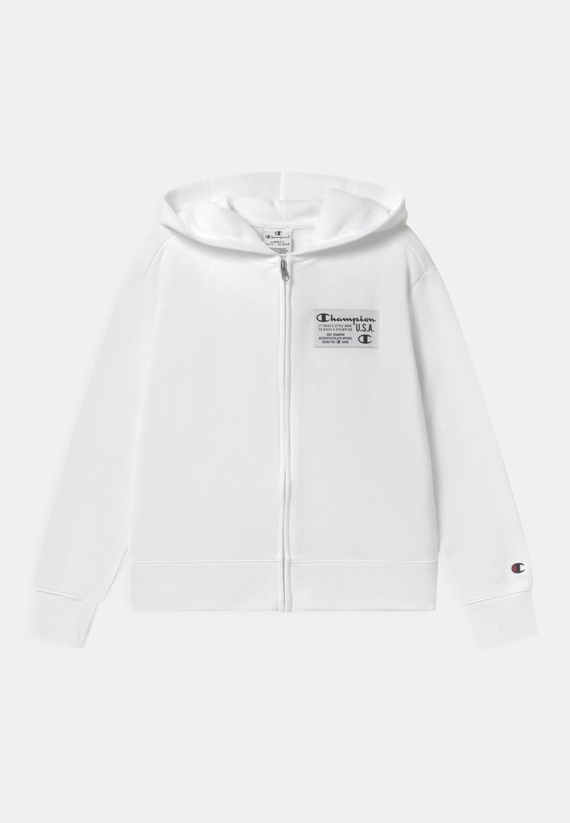 Champion - HOODED FULL ZIP UNISEX - Zip-up hoodie - white