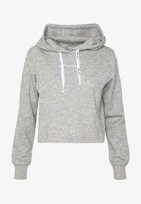 HOODED - Hoodie - light grey
