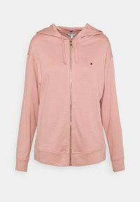 Tommy Hilfiger - OVERSIZED ZIP THROUGH HOODIE - Zip-up sweatshirt - soothing pink - 0