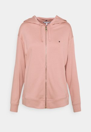 OVERSIZED ZIP THROUGH HOODIE - Zip-up hoodie - soothing pink
