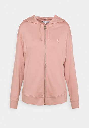 OVERSIZED ZIP THROUGH HOODIE - Zip-up sweatshirt - soothing pink