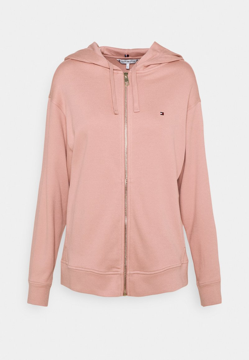 Tommy Hilfiger - OVERSIZED ZIP THROUGH HOODIE - Zip-up sweatshirt - soothing pink