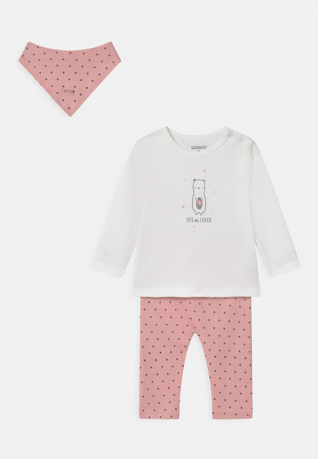 SET - Trousers - rosy