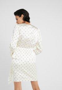 DESIGNERS REMIX - FALLON DRESS - Shift dress - white/black - 2