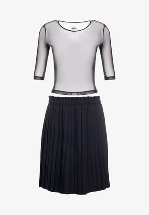 SET - Spódnica trapezowa - black