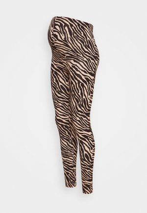 MLSAIDY - Leggings - Trousers - black/oatmeal