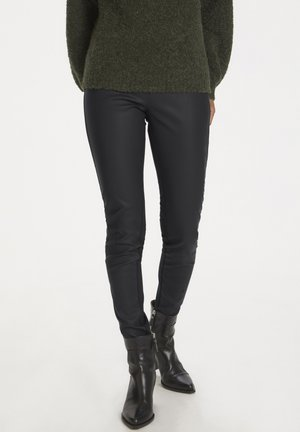 ANANNAPW PA ANANNAPW - Leather trousers - black