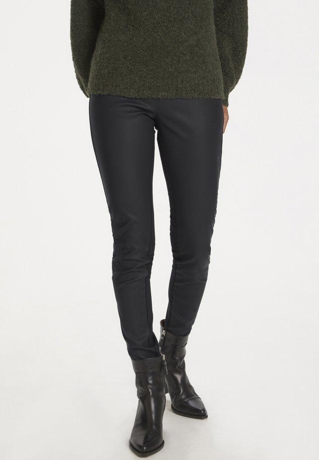 ANANNAPW PA ANANNAPW - Pantalon en cuir - black