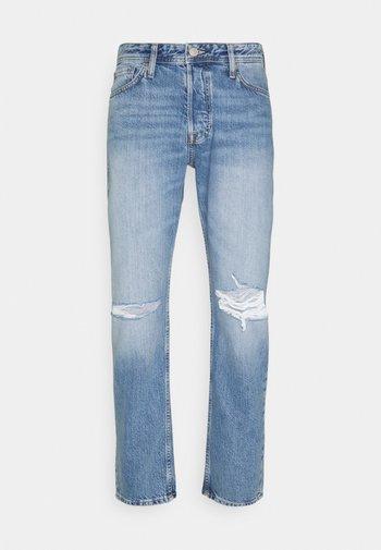 JJIMIKE JJORIGINAL CROPPED - Jeans straight leg - blue denim