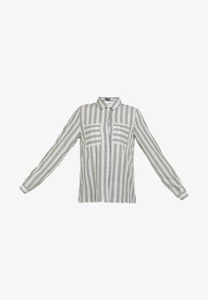 DREIMASTER BLUSE - Button-down blouse - minze weiss