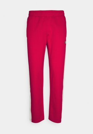SETTANTA TRACK PANTS - Tracksuit bottoms - true red/blanc de blanc