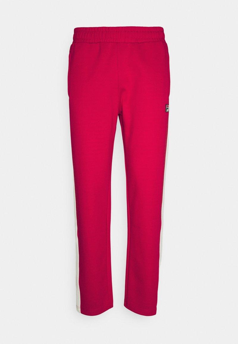 Fila - SETTANTA TRACK PANTS - Tracksuit bottoms - true red/blanc de blanc