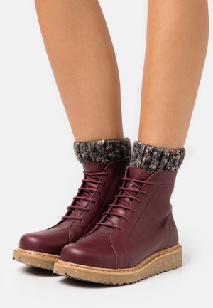 PIZZARA - Platform ankle boots - soft grain brown/arena