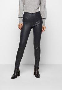 STUDIO ID - LENA  - Leather trousers - blue night - 0
