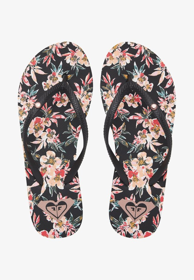 BERMUDA - Teenslippers - black graphic