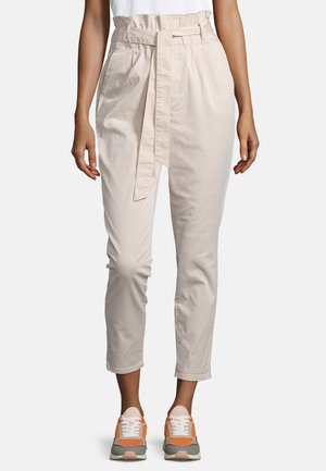 CHINO UNIFARBEN - Trousers - cream