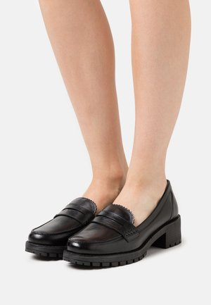 GLINTTS - Loaferit/pistokkaat - black