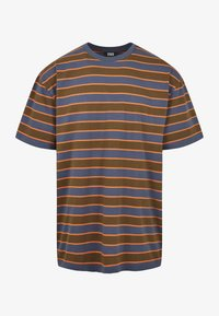Urban Classics - YARN DYED BOARD STRIPE - T-shirts basic - summerolive/vintageblue - 6