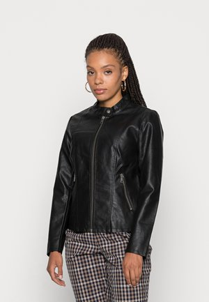 ONLMELISA JACKET - Faux leather jacket - black