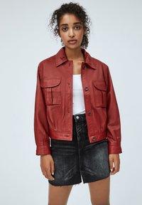 Pepe Jeans - LENA - Leather jacket - tibetan red - 0