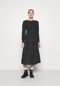 Dorothy Perkins - SMOCKED MIDI  - Day dress - black - 1