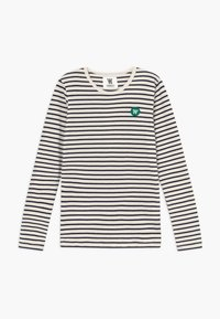Wood Wood - KIM KIDS LONG SLEEVE - Langærmede T-shirts - off-white/navy stripes - 0