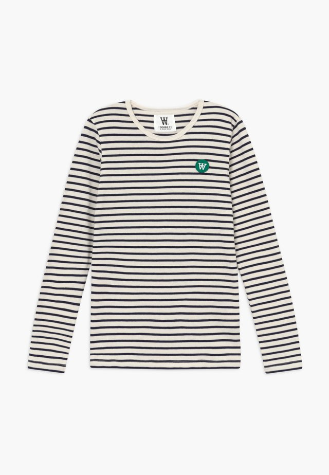 KIM KIDS LONG SLEEVE - Bluzka z długim rękawem - off-white/navy stripes