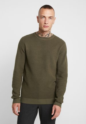 JELIAM CREW NECK - Jumper - olive night