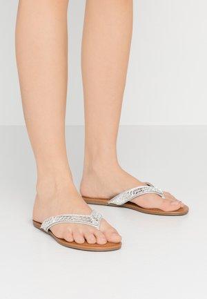 SPARKLER - T-bar sandals - silver