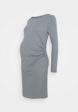 MATERNITY LETTUCE EDGE LONG SLEEVE DRESS - Vestido ligero - tradewinds