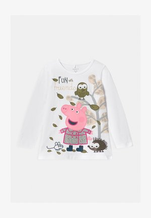 NMFPEPPAPIG - Long sleeved top - bright white