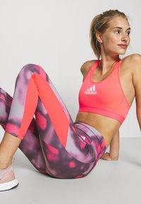 adidas Performance - AEROREADY TRAINING SPORTS - Leggings - pink/white - 4