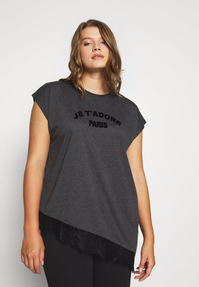 ADORE  TEE - Camiseta estampada - black