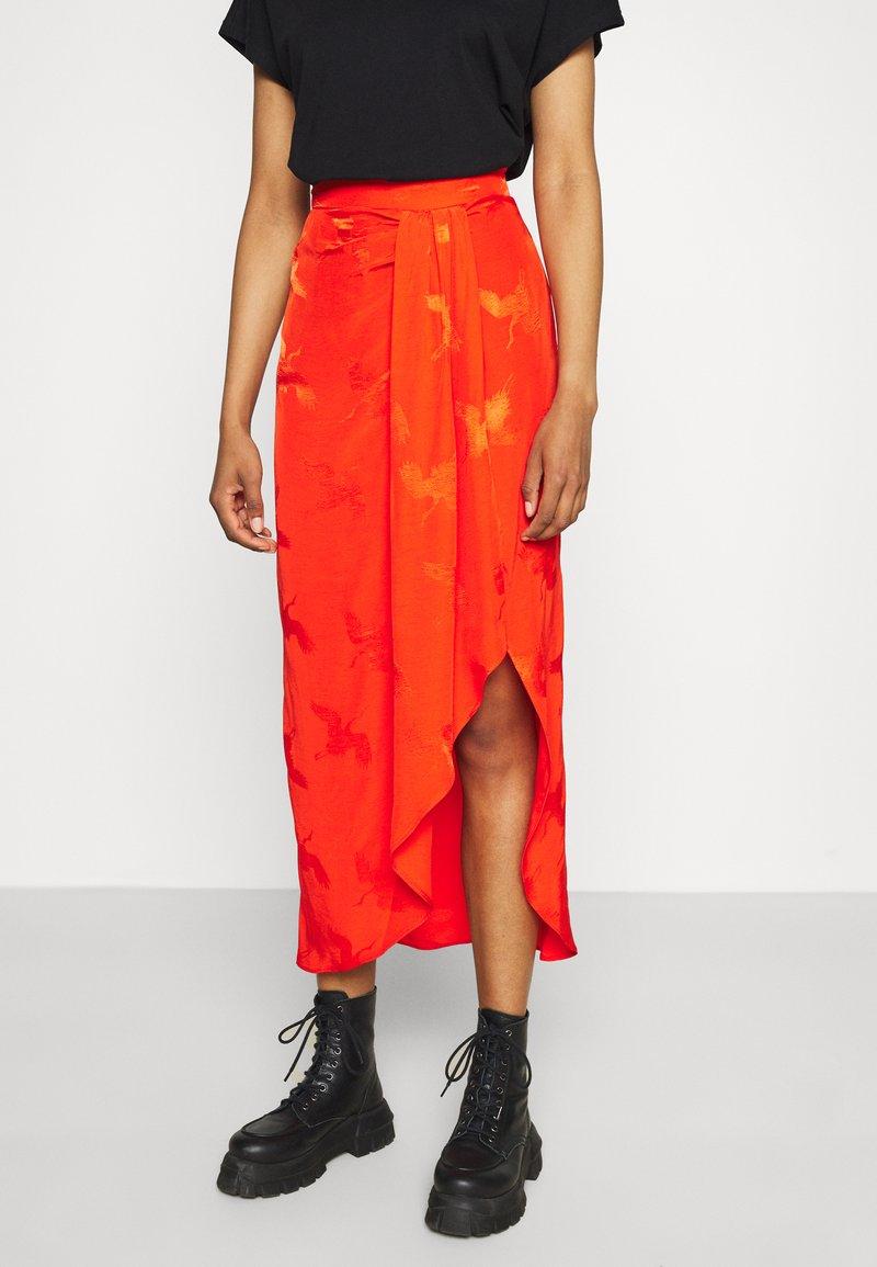 River Island - A-line skirt - orange