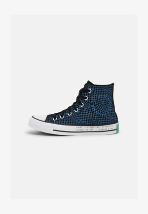 CHUCK TAYLOR ALL STAR TOPOGRAPHIC UNISEX - High-top trainers - black/court green/digital blue