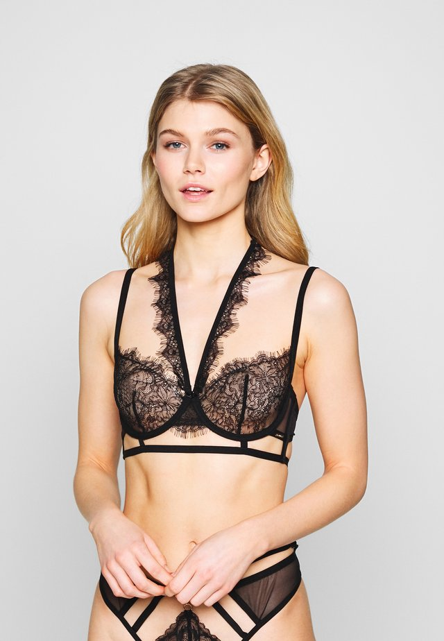 FRANCINE BRA WITH DETACHABLE COLLAR - Underwired bra - black
