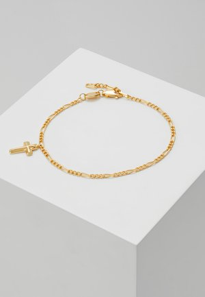 ANGULAR CROSS CHARM CHAIN - Pulsera - gold-coloured