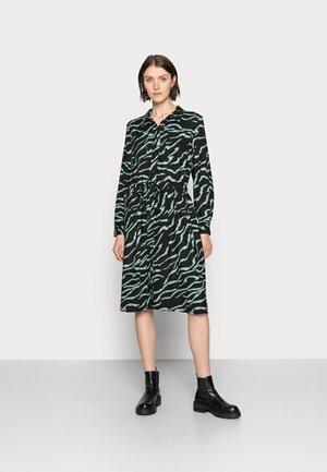 ZIANA DRESS - Shirt dress - black/hedge