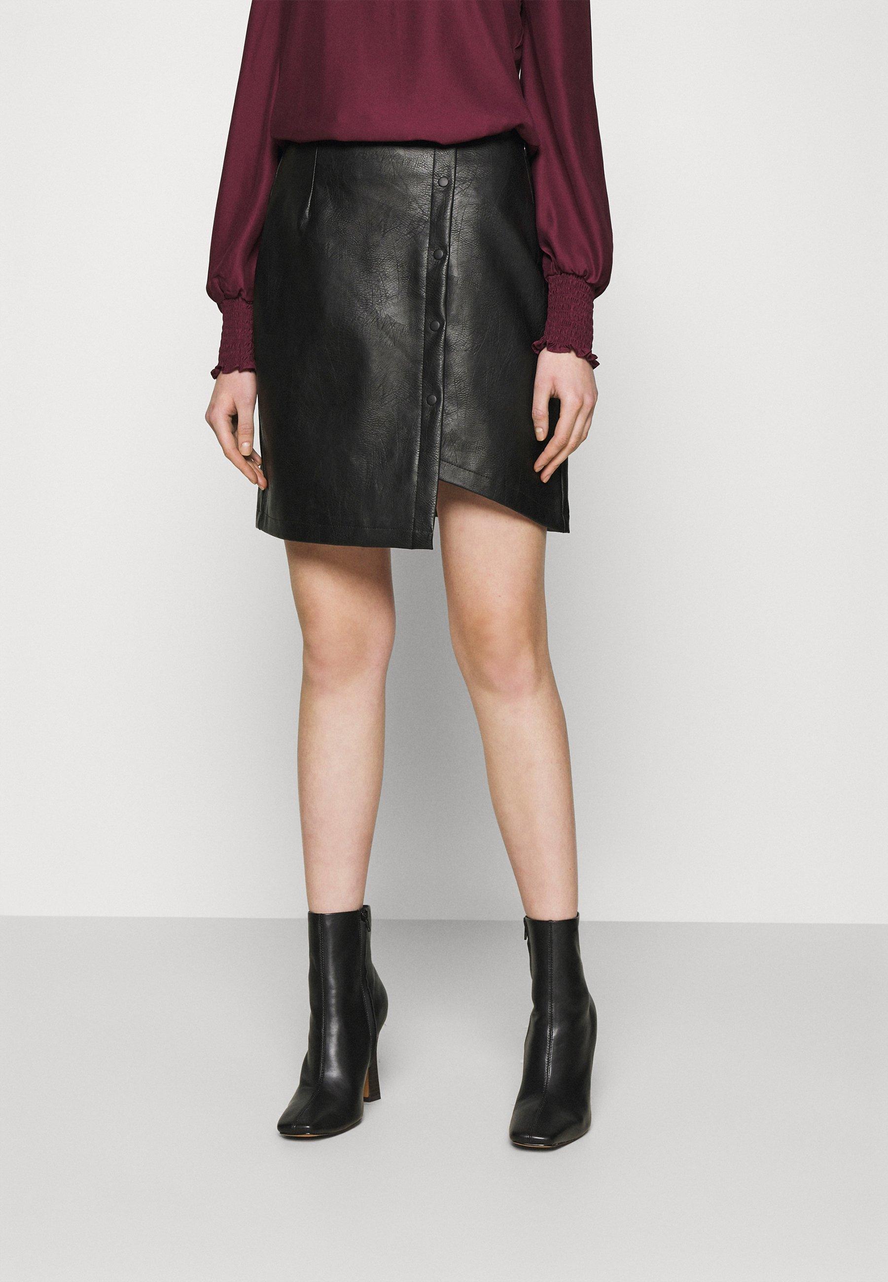Femme VMZISSY SHORT COATED SKIRT  - Minijupe