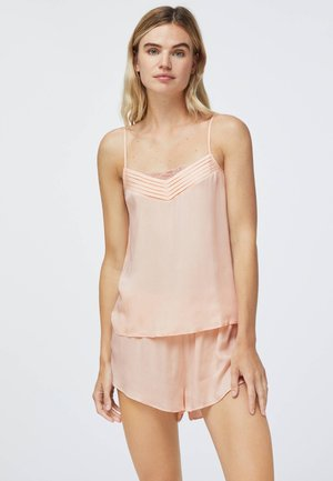 WITH V-NECK. PLAIN AT - Pyjama top - rose