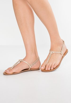 T-bar sandals - rose-gold