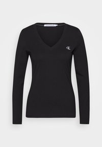 Calvin Klein Jeans - V NECK - Long sleeved top - black - 3