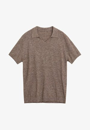 POLO COTON MAILLE JASPÉ - Basic T-shirt - marron