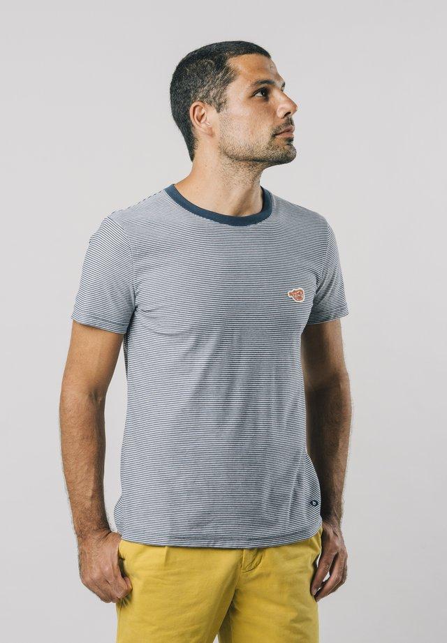 FUGU STRIPES - T-shirt con stampa - blue