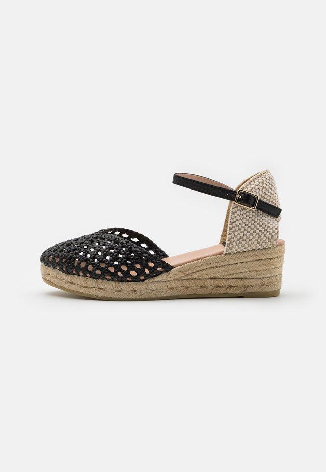 CUCA - Sandály na platformě - black
