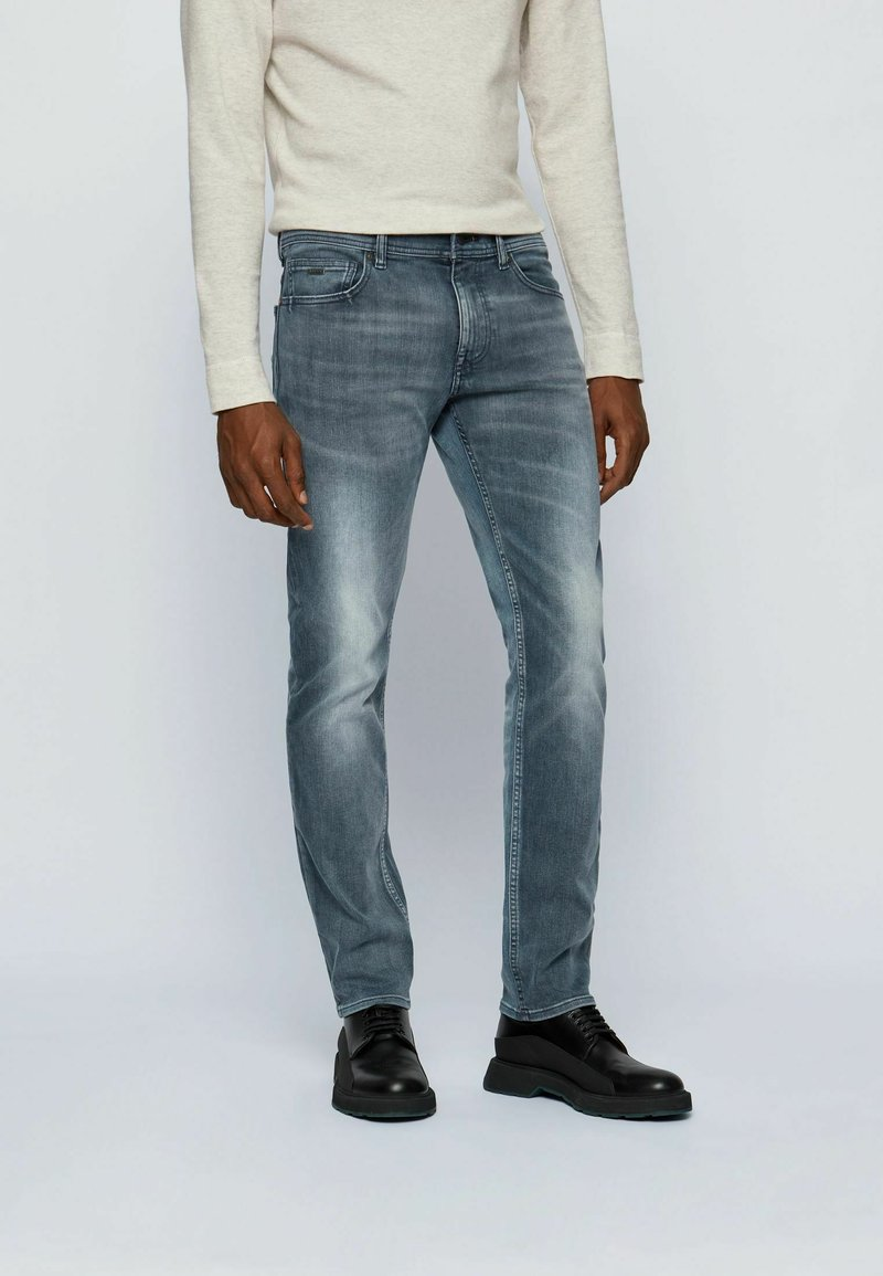 BOSS - DELAWARE - Slim fit jeans - anthracite