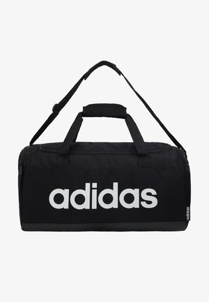 ESSENTIALS LINEAR SPORT DUFFEL BAG UNISEX - Sportväska - black/white